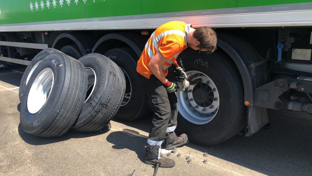 asda fuel saving trial tyres fleet