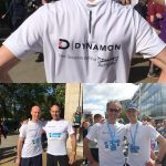 Dynamon team members participate in the marathon race