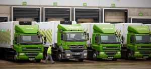 Waitrose Fleet - DAF and Mercedes trucks at Depo